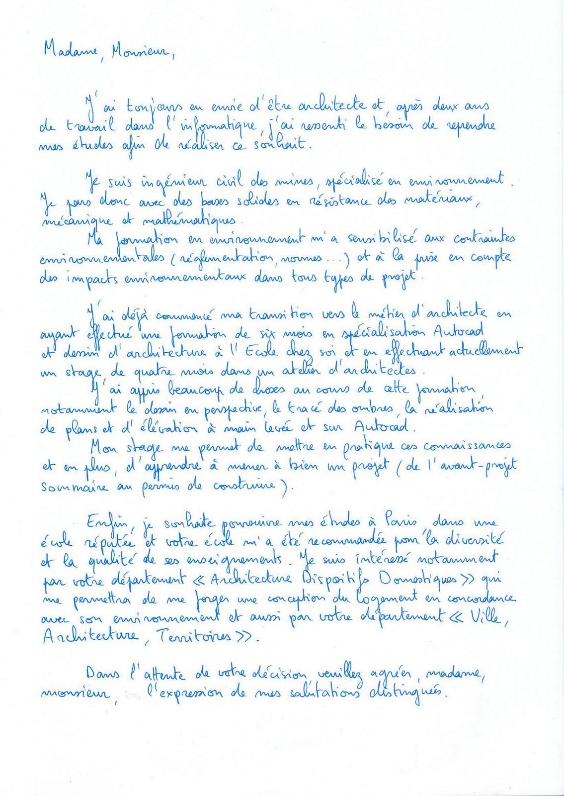 Ebook Lettre De Motivation Ecole D Architecture Rennes