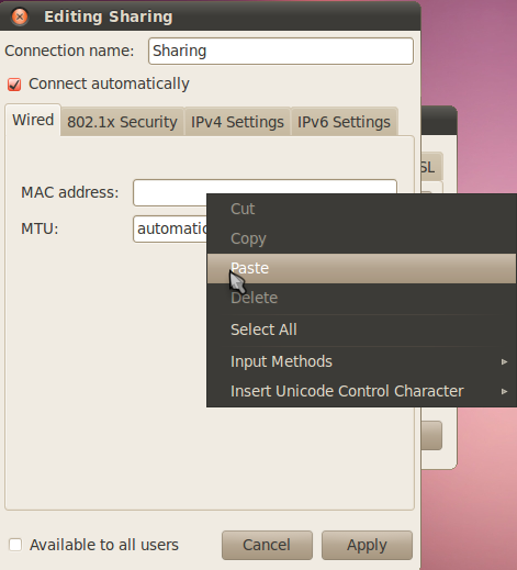 Sharing Koneksi Internet Dengan Ubuntu Melalui Lan