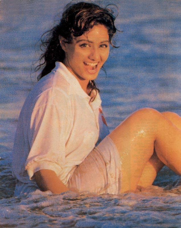 Sridevi Sridevi At The Beach