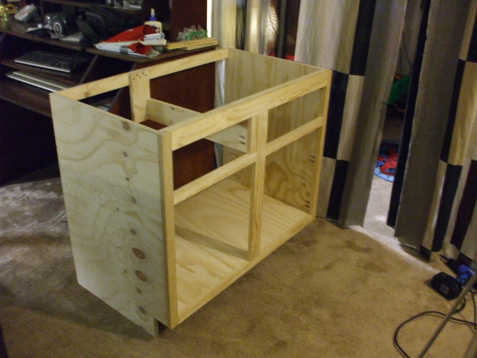 How I Keep Busy: Custom Kitchen Sink Base Cabinet