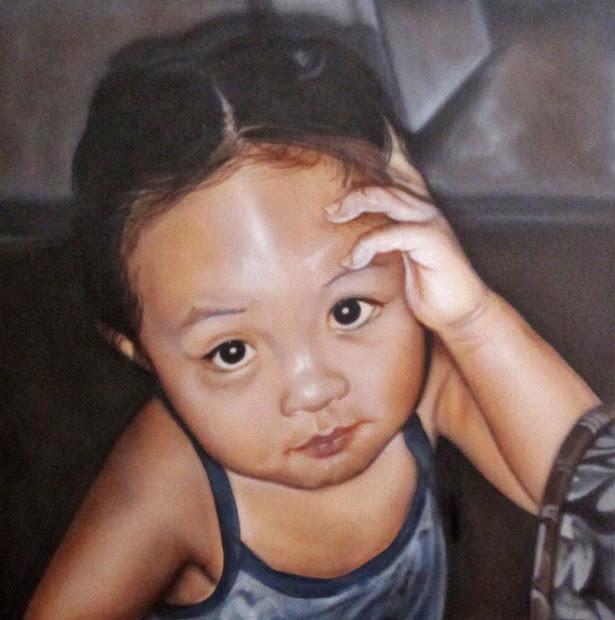 Amazing Airbrush Art Children' Portraits