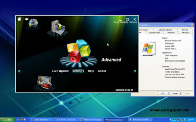Acer Arcade Deluxe in Windows XP