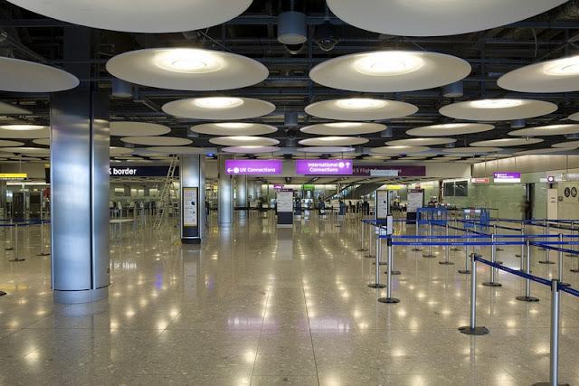 Área de chegada do T5- Acesso a imigração e conexões