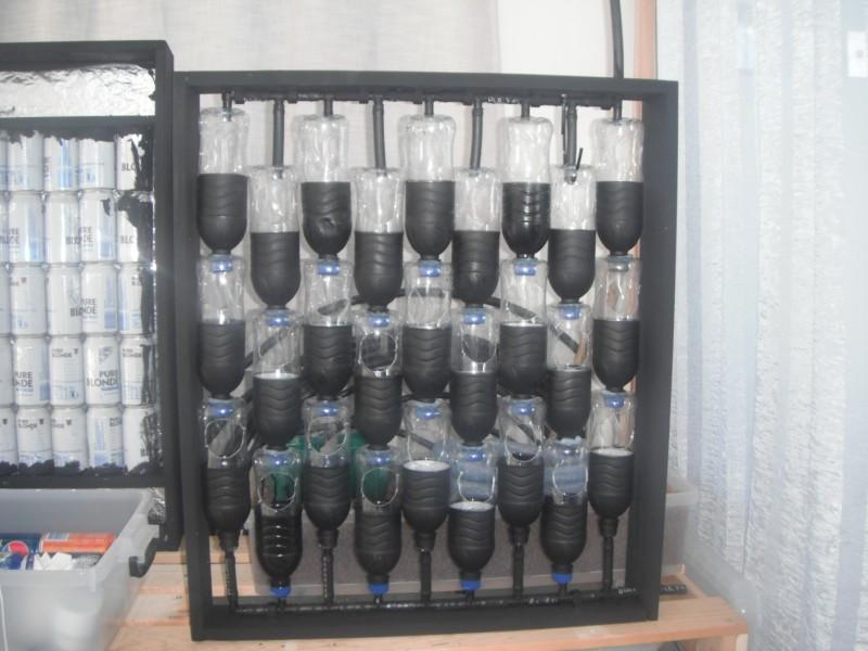 Urban green survival bottle garden for Garden design using plastic bottles