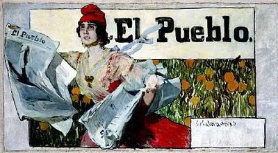 Boceto de cartel para el diario El Pueblo, Joaquín Sorolla Bastida, Joaquín Sorolla Bastida, Retratos de Joaquín Sorolla, Joaquín Sorolla, Pintor español, Retratista español, Pintores Valencianos