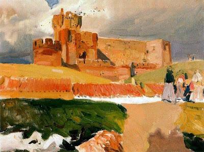 Castillo de la Mota, Medina del Campo, Joaquín Sorolla y  Bastida, Joaquín Sorolla, Paisajes de Joaquín Sorolla, Impresionismo Valenciano, Joaquín Sorolla Bastida