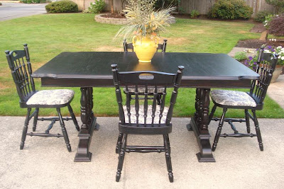 Black country dining table myideasbedroom com