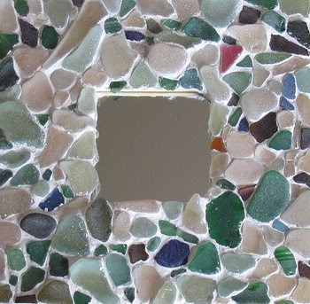 sea glass mosaic frame