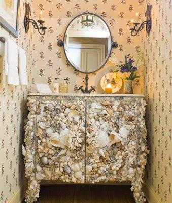 seashell vanity