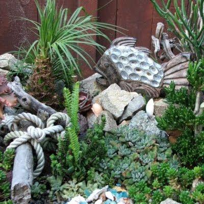Nautical Garden Decor Idea