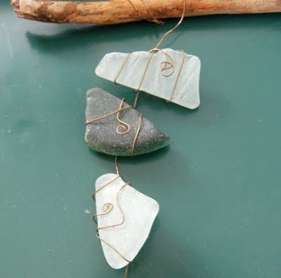wire wrap beach glass