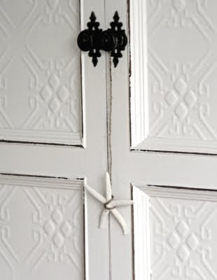 starfish hanging on door