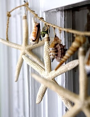 starfish garland with twine