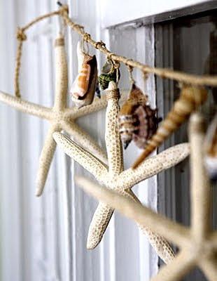 starfish garland with twine