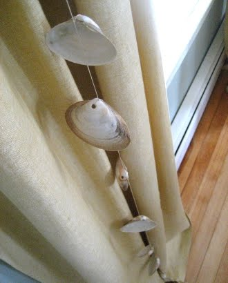 sea shell garland hanging