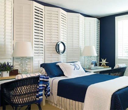 white vinyl shutters headboard ideas