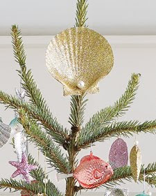 handmade shell tree topper