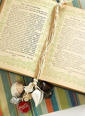 homemade shell bookmark