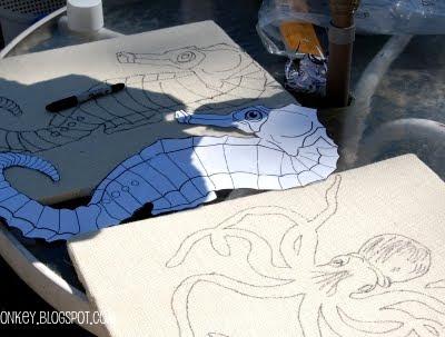 make your own burlap canvas artwork
