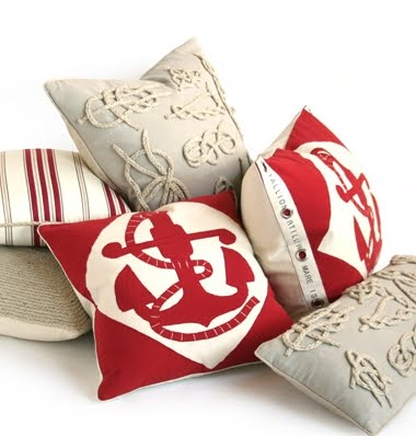 nautical pillows by Dransfield and Ross