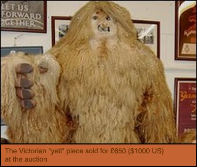 Bigfoot News | Bigfoot Lunch Club: Victorian Yeti sells for