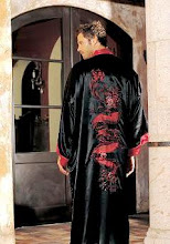 DRAGON ROBE Solid Color- HOLIDAY SPECIAL - 1/2 OFF 100% Silk Chinese Dragon Kimono Robe Order Click