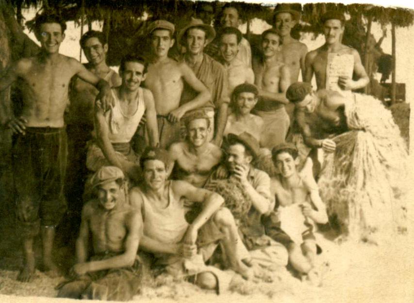 Trabajadores del lino de Armilla en 1960