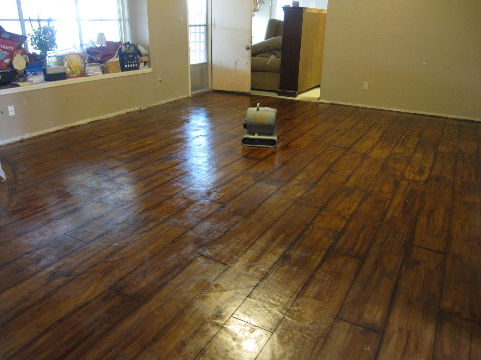 Painting Old Vinyl Flooring Decorative Concrete Floors