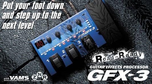 Guitar Effects: ZOOM GFX-3