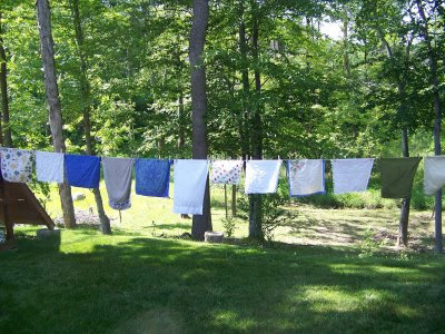 Clothesline for drying