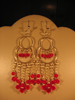 0d1f5b44b6f1 Pendientes de plata 950 con cristales swarosky color rojo. Código