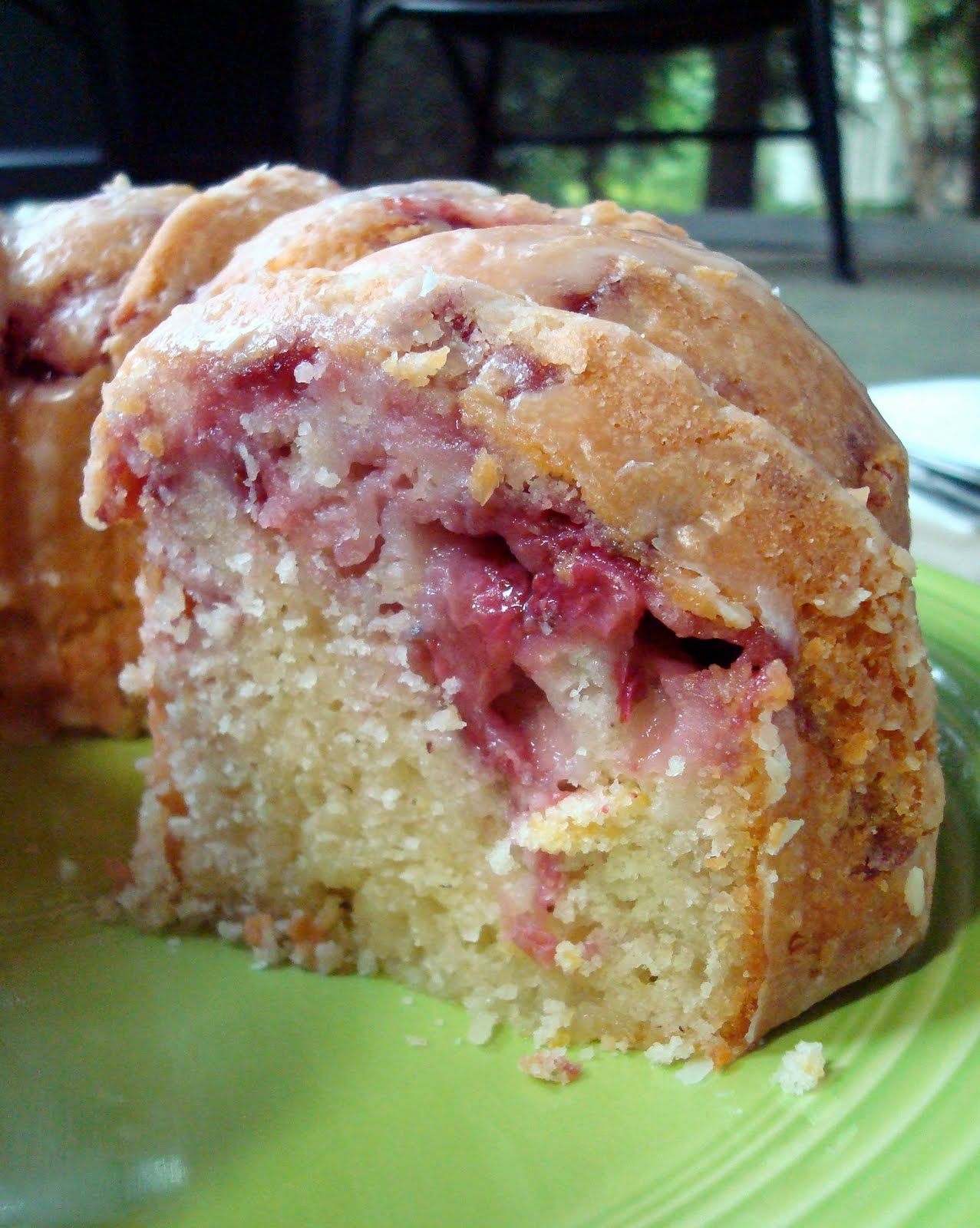 Fresh Strawberry Yogurt Bundt Cake