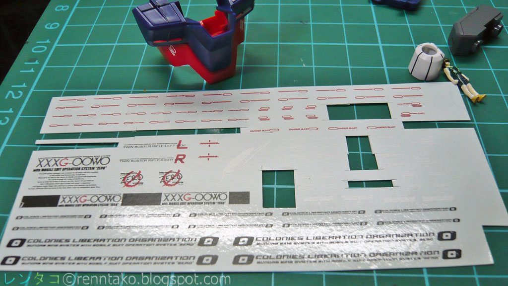 Ren working with mg wing zero custom decals from samueldecals