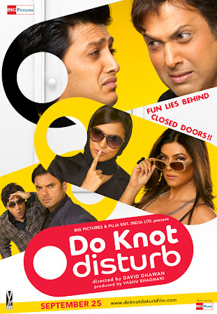 Poster Of Bollywood Movie Do Knot Disturb (2009) 120MB Compressed Small Size Mobile Movie Free Download worldfree4u.com