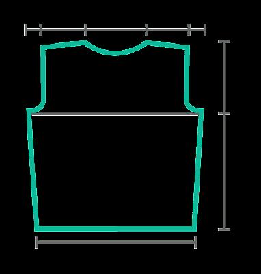 Para calcular una prenda de punto es necesario dibujar una silueta y pasar a  ella todas las medidas. Por ej 7ab68146395
