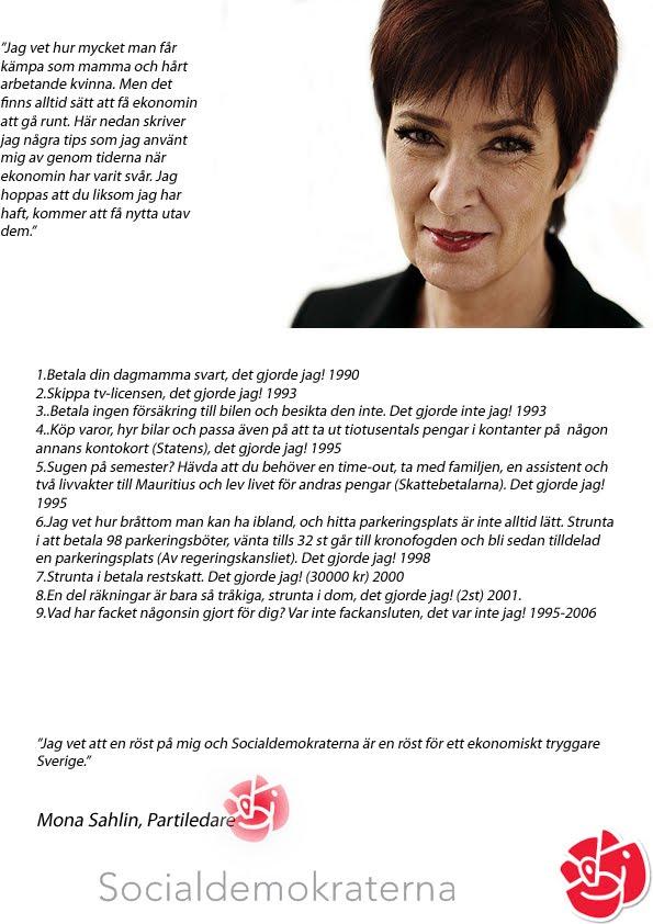 Mona sahlins partiprogram