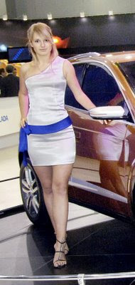 Hot girls from Moscow Auto show 6