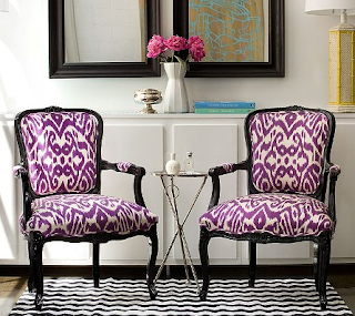 Louis chairs with bold patterns