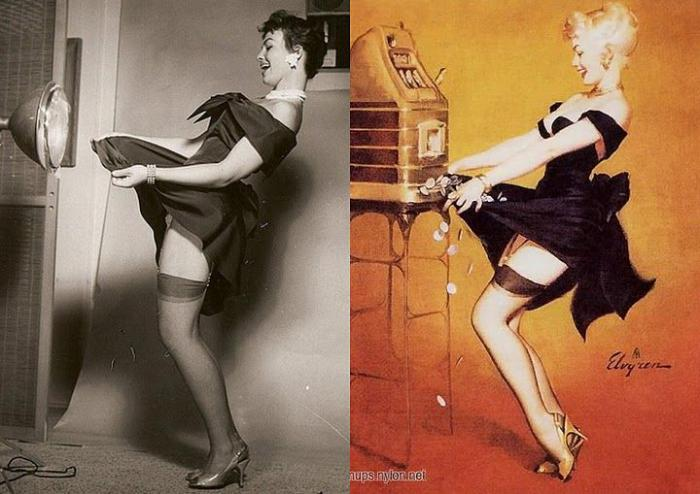 Pin-ups, which were created based on the actual photo: 09