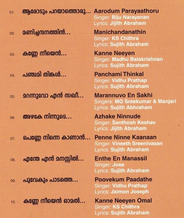 Malayalam Love Letter In English Malayalam Songs...