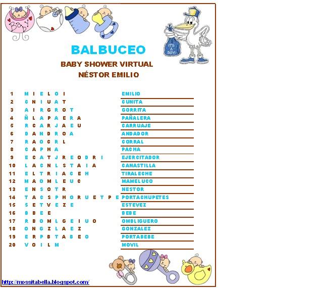 49 Juegos Para Baby Shower Varon Con Respuestas