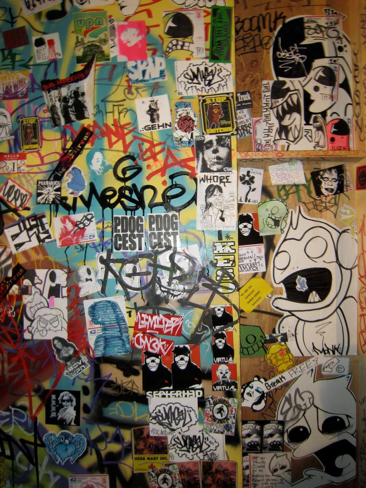 MELROSEandFAIRFAX: Peel Here Sticker Show- Art Part 4