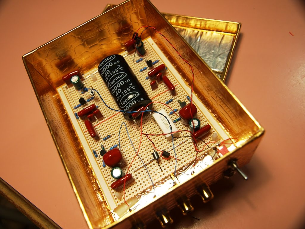 Mongrel Dog Audio: JFET phono preamp-in a chocolate box