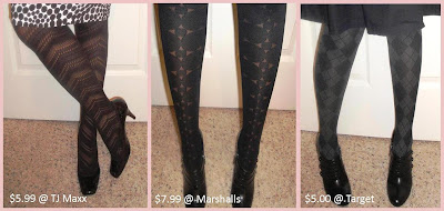 Patterned Tights:  A Budget Friendly Fall Update