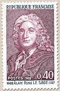 Resultado de imagem para selo de Alain-René Lesage