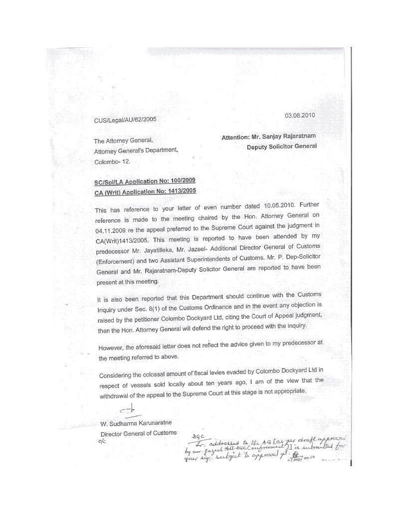 Formal letter closing
