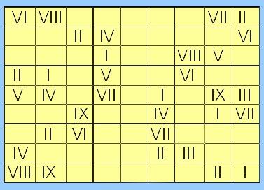 latin pour les nuls enfin un sudoku en chiffre romain. Black Bedroom Furniture Sets. Home Design Ideas