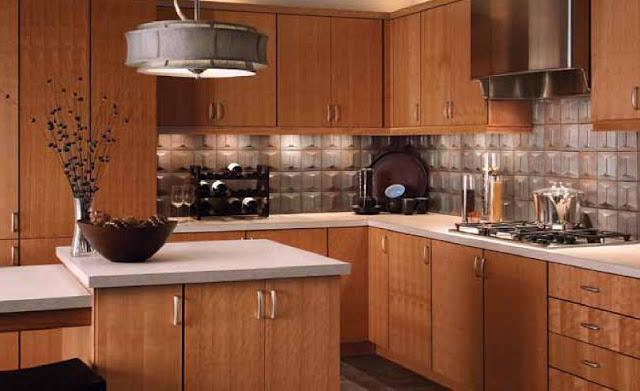Cherry Slab Kitchen Cabinets