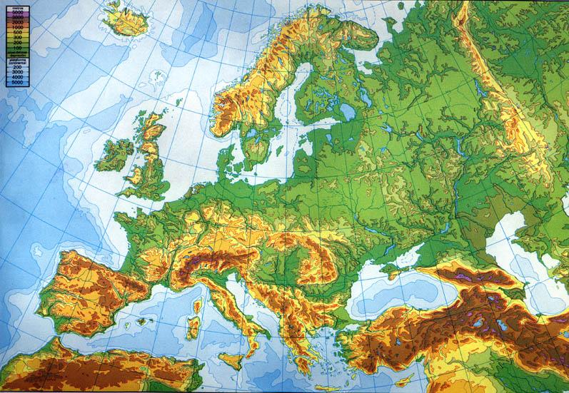 Cartina Fisica Europa Muta Pieterduisenberg