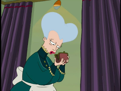 e3p2s mom from futurama gets dressed then sponsors and